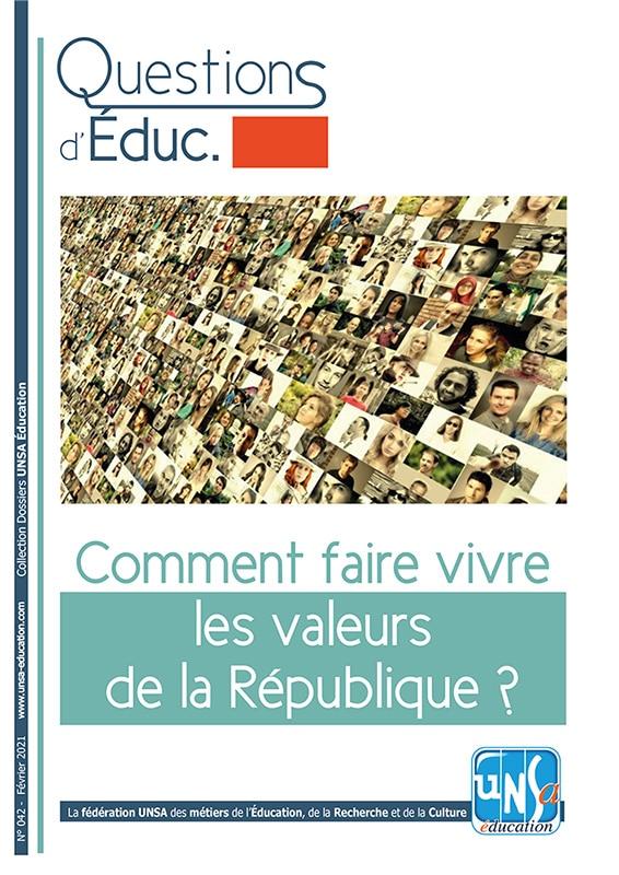 Questions d'Éduc 42 : Comment faire vivre les valeurs de la République ?