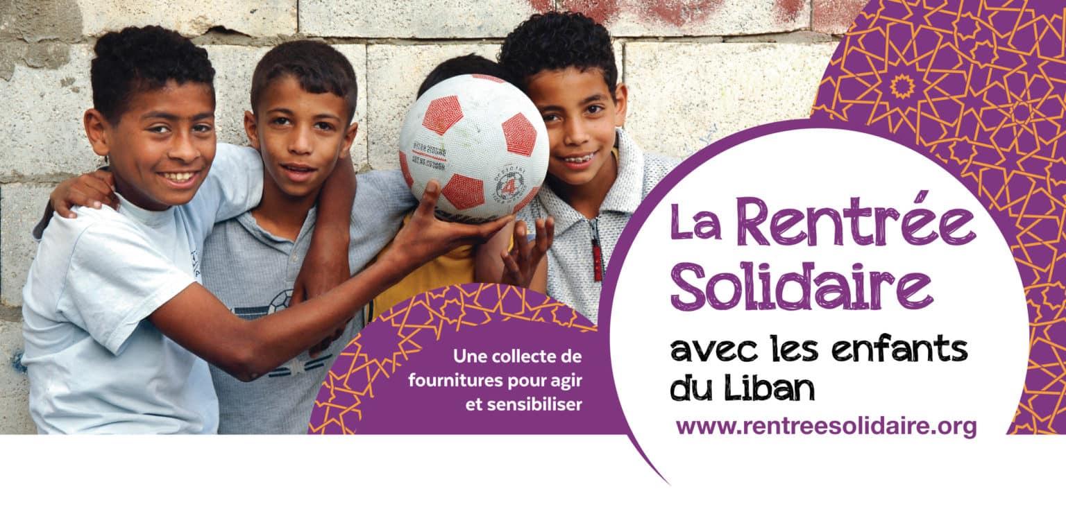 Rentrée solidaire au Liban : et si vous organisiez une collecte dans votre école ou votre établissement ?