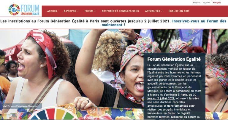 Le forum Génération Égalité du 30 juin au 2 juillet