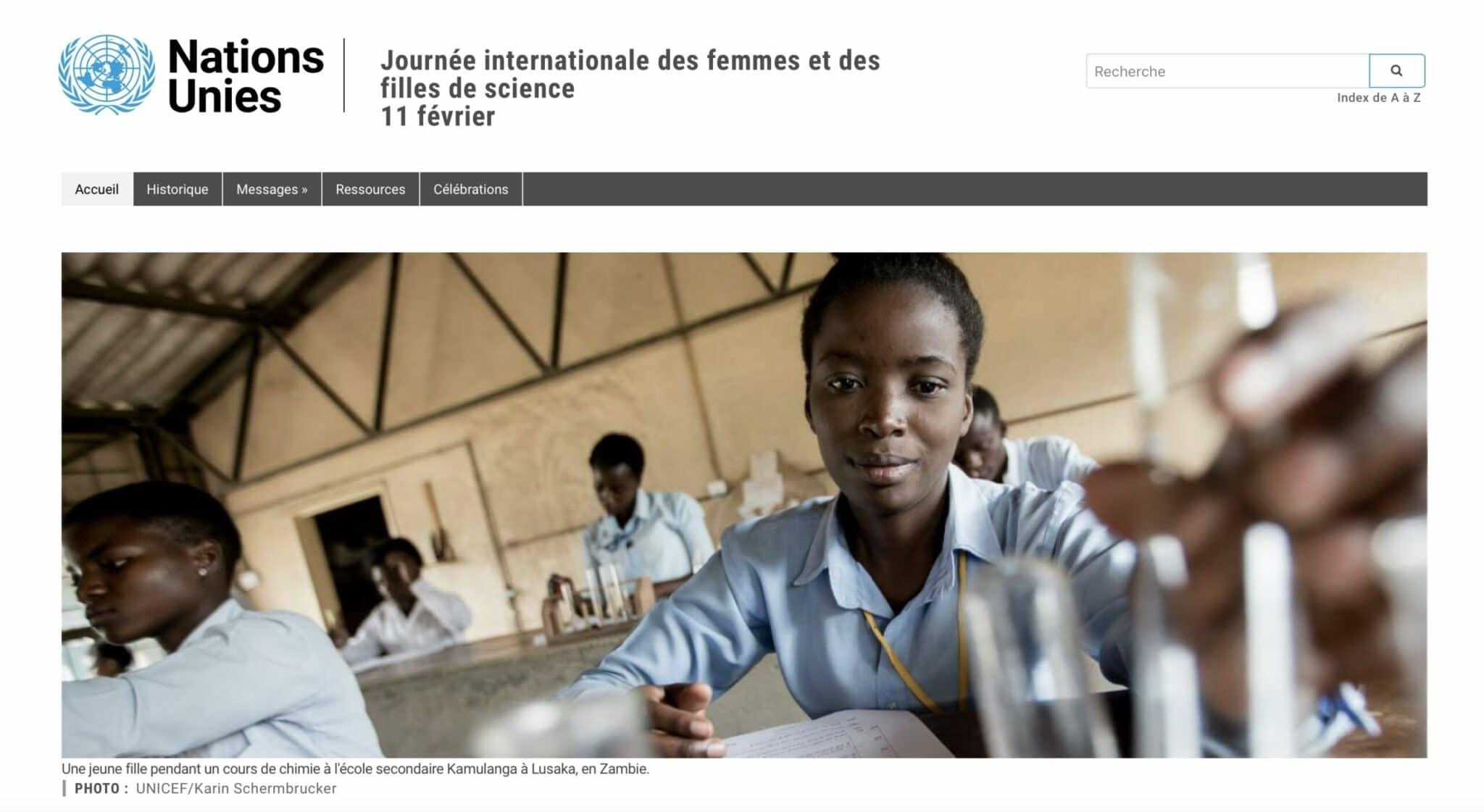 11 octobre, Journée internationale des filles :  les femmes scientifiques à l'honneur !
